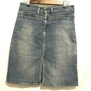 American Eagle Women's Denim Jean Split Skirt